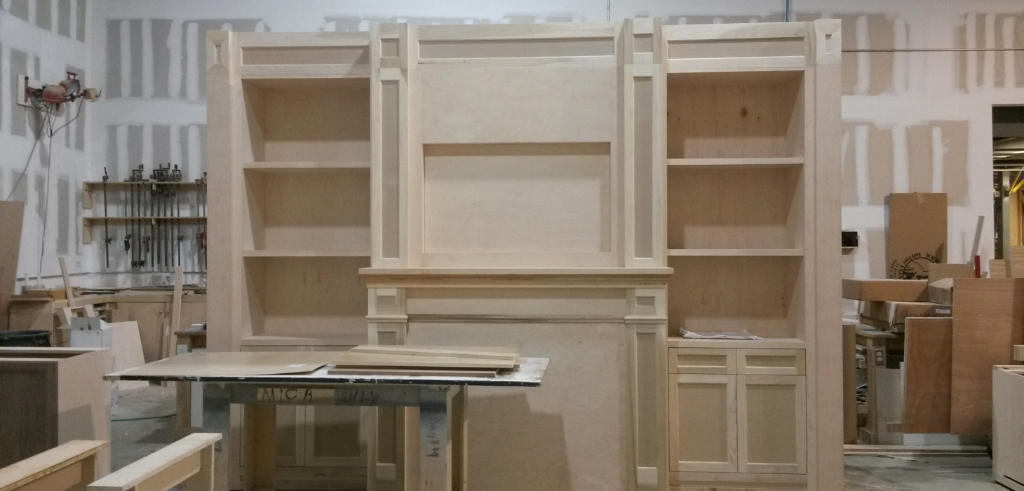 Custom woodwork in process