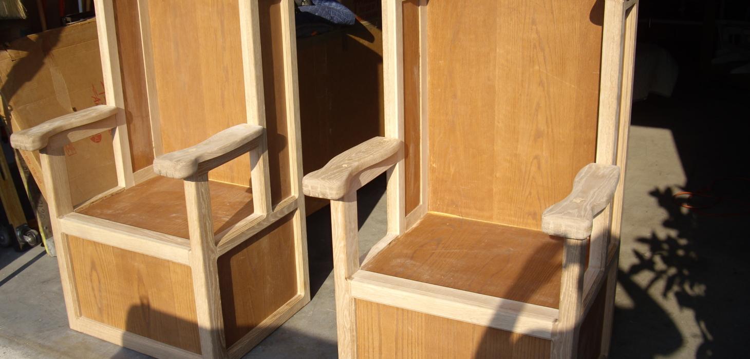 Shoe Shine Chair in Process