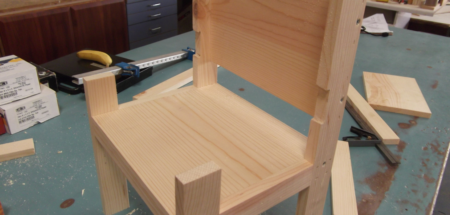 Toddler chair in process