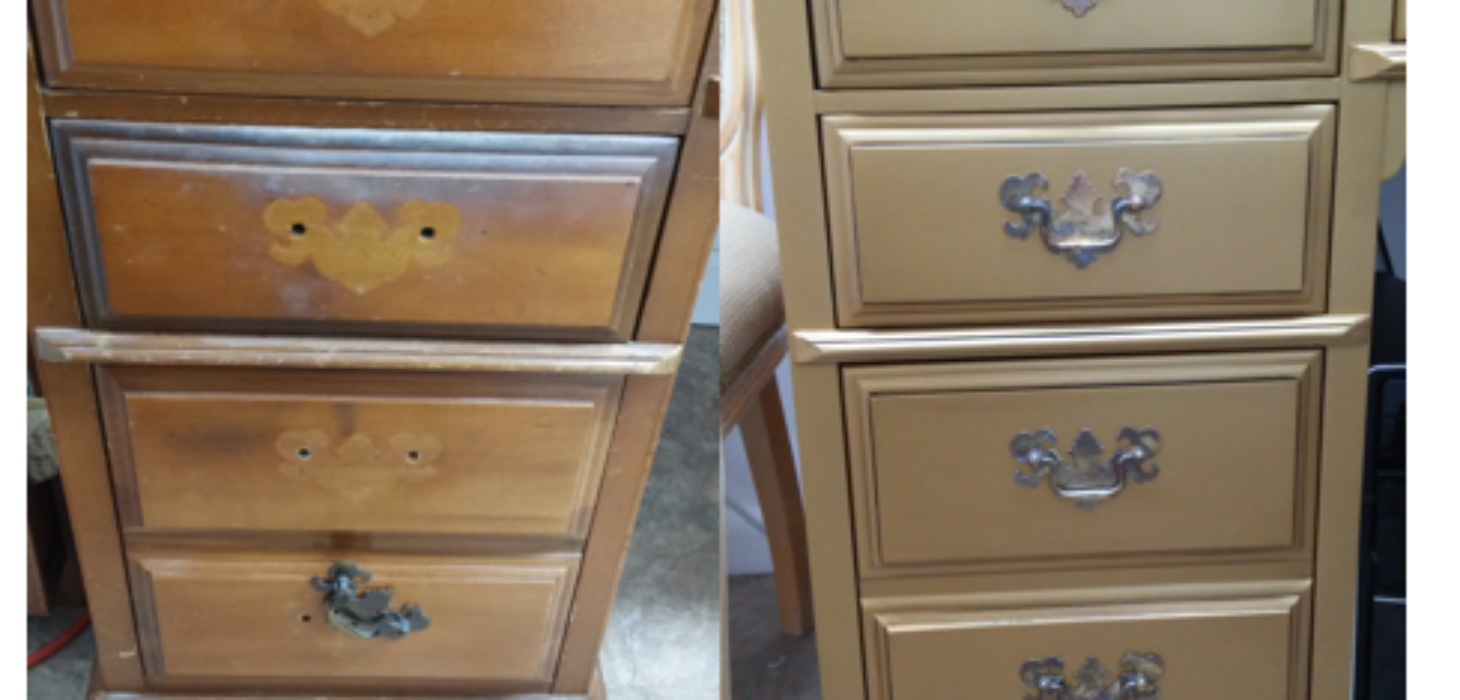 Desk draw before & desk draw after