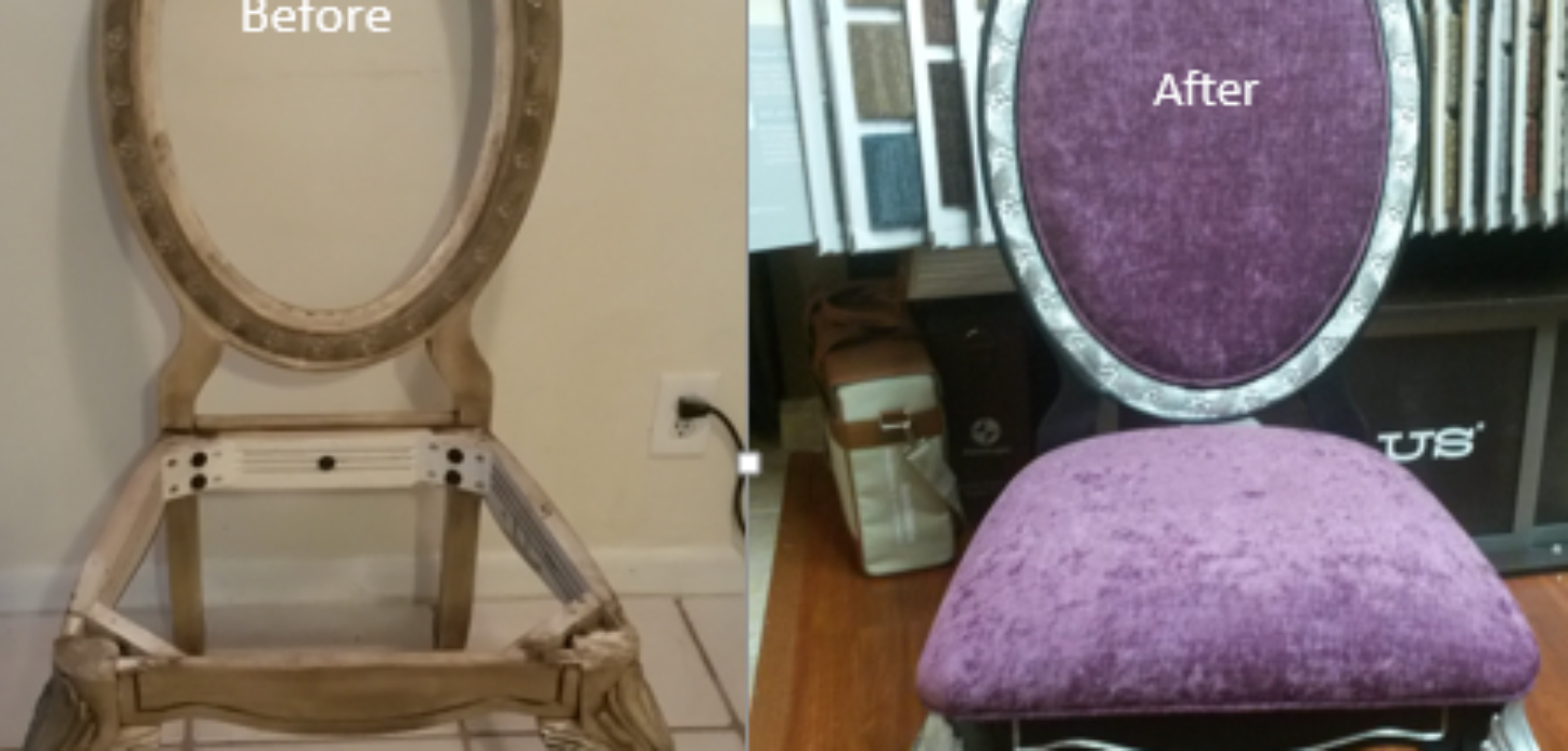 Dining chair before & dining chair after crop